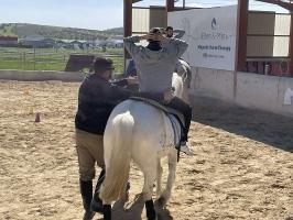 Ιπποθεραπεία- Εκπαιδευόμενος σε Άλογο