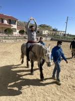 Ιπποθεραπεία- Εκπαιδευόμενος σε Άλογο με τα Χέρια Ψηλά