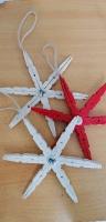 Ξύλινα Στολίδια απο Μανταλάκια